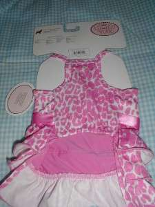 PET DOG Clothes PINK Ruffle DRESS~XS~LULU PINK~NWT