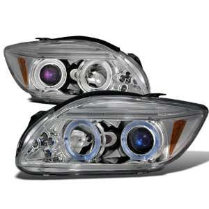 06 Scion Tc Halo Projector Headlights   Chrome Blue Lens Automotive