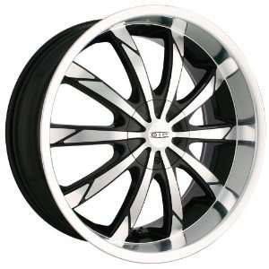 18x7.5 DIP Slack (D66) (Black w/ Machined Face & Lip) Wheels/Rims